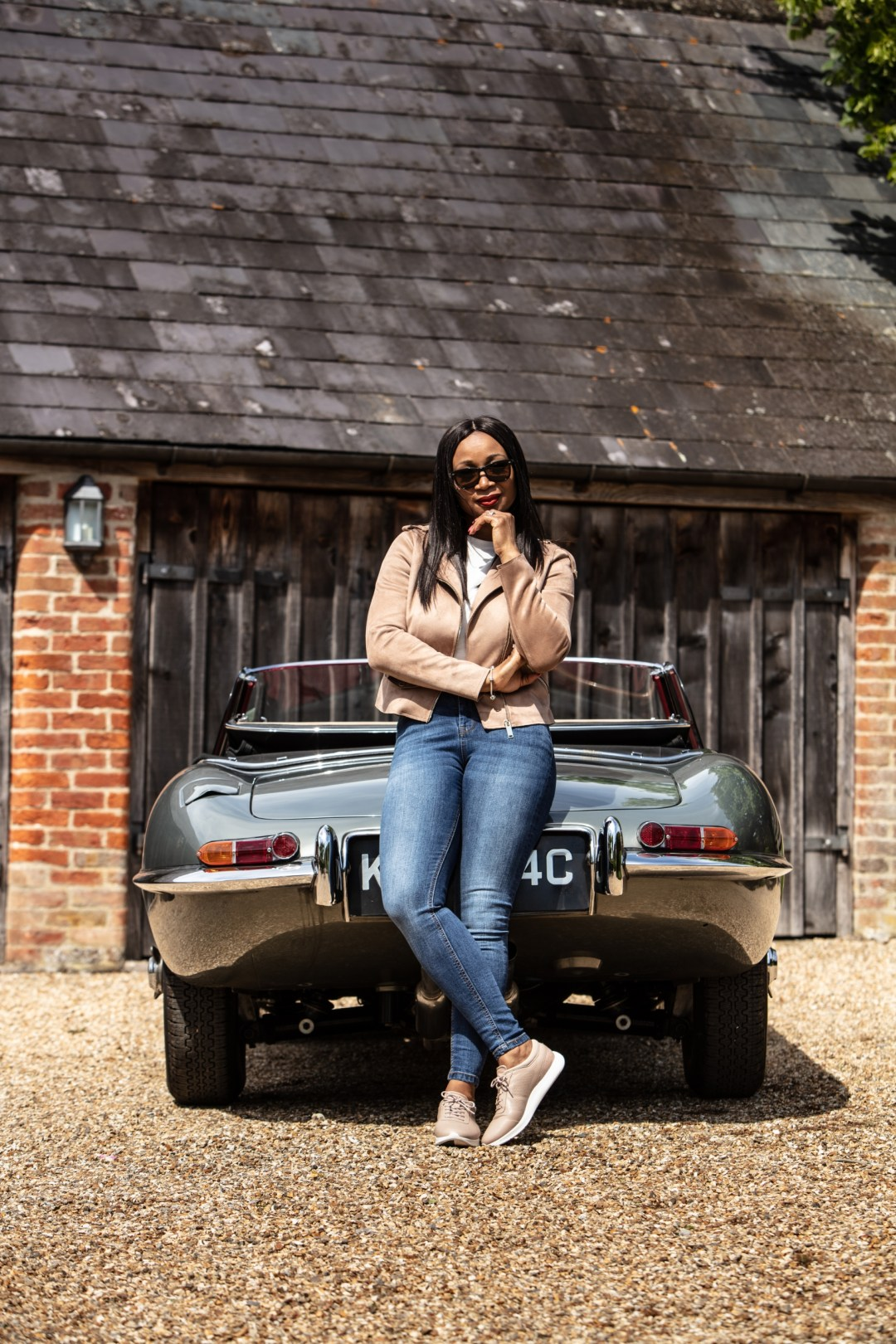 lifestyle campaign with piloti shoes jaguar and leah guilliard watts