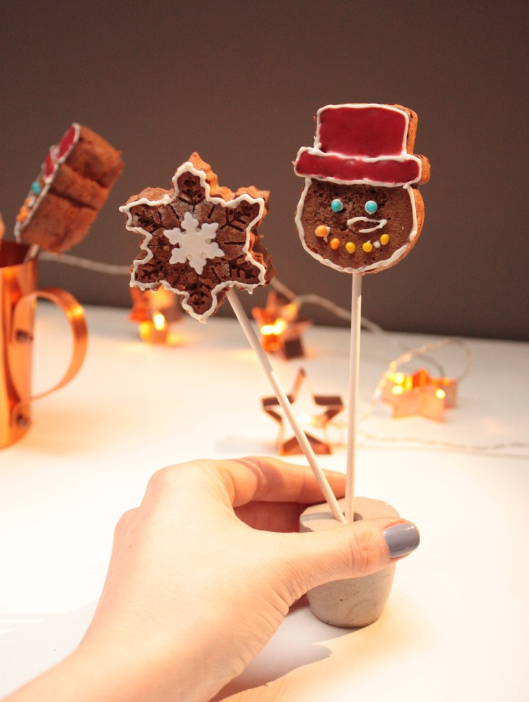 Lebkuchen-Lollies zum 4. Advent
