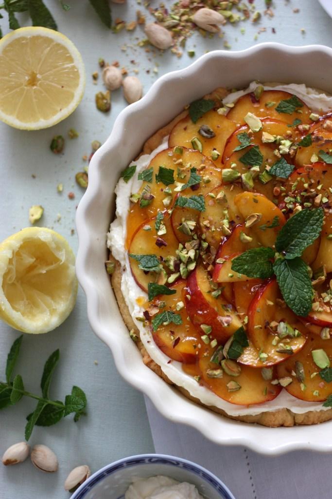 Herrlich erfrischende Pfirsich-Mascarpone Tarte