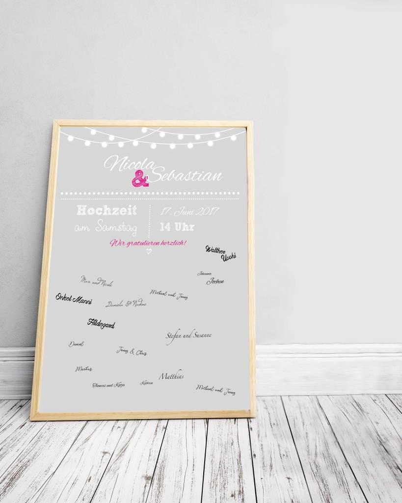 Wie wäre es zur nächsten Hochzeit mit einem Gästebuch-Poster?  | Mi-Mini
