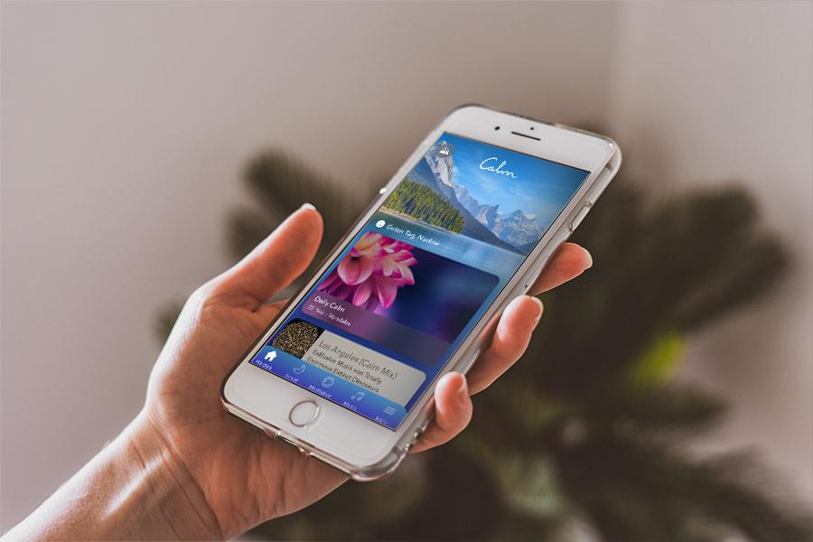 Calm App für dein Handy