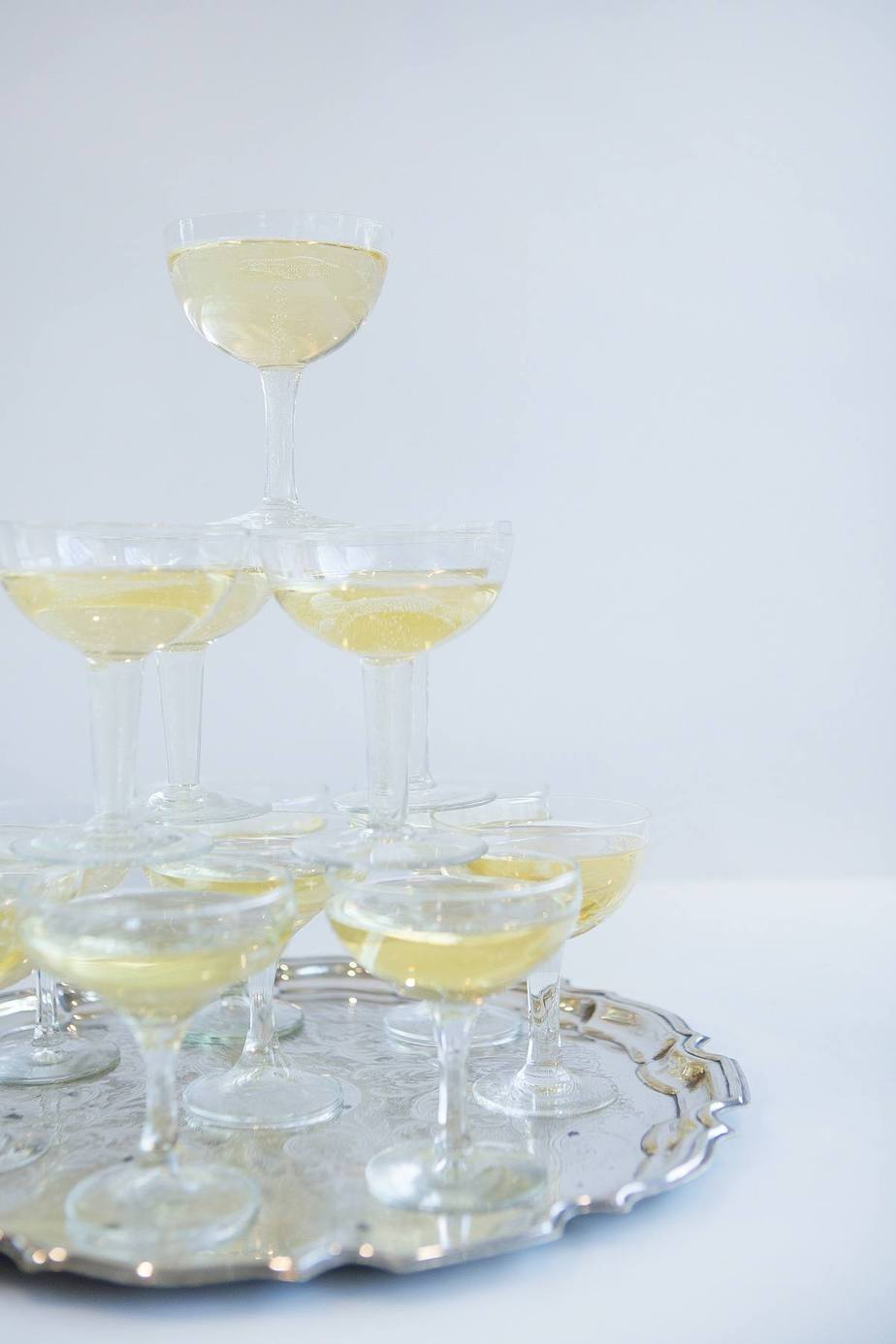 Glassware wedding hire Raglan