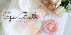 Spa Bath Pampering Routine