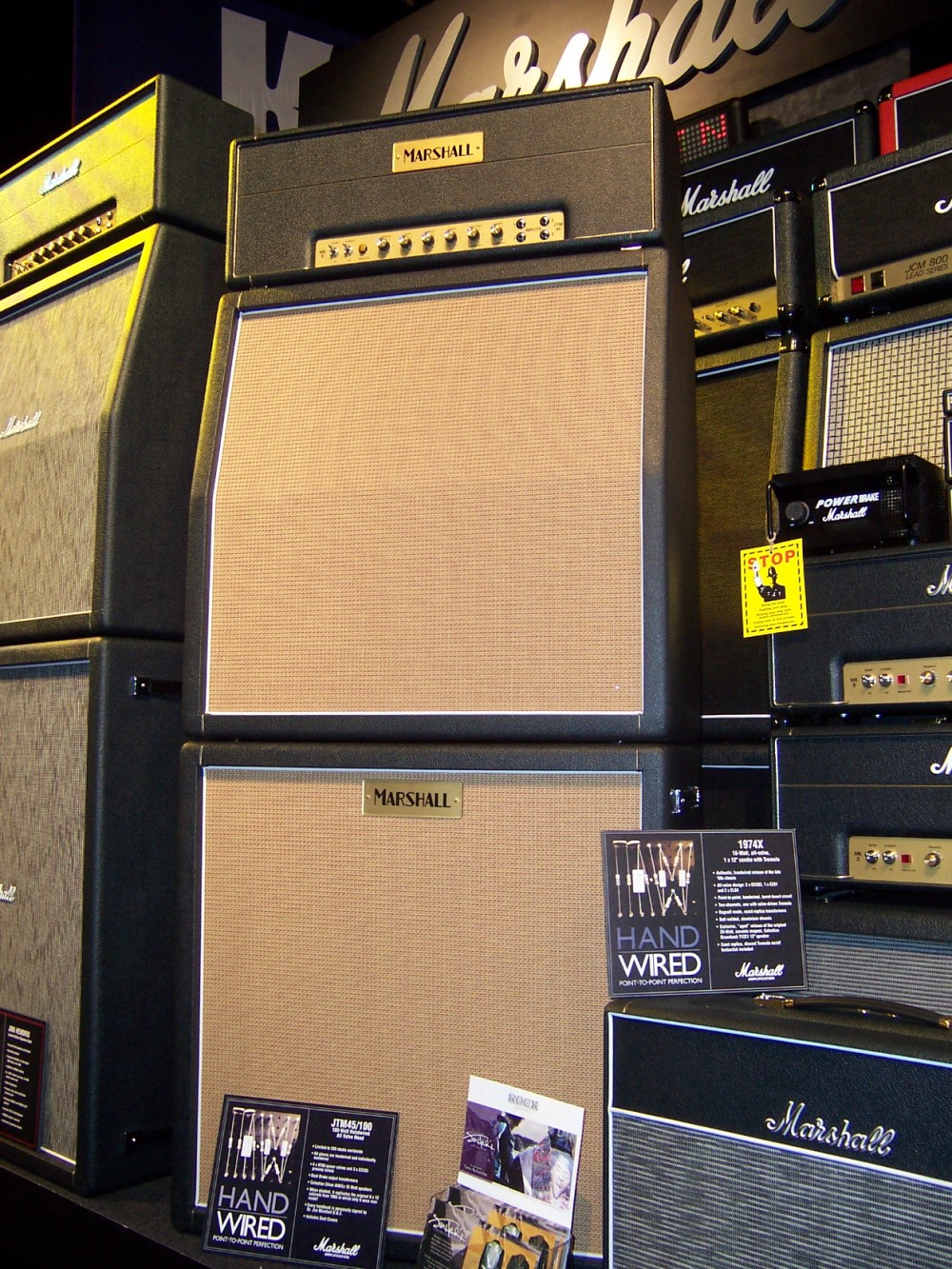 medium resolution of click to view larger version marshall 40th anniversary jtm45 100 stack at namm 2006