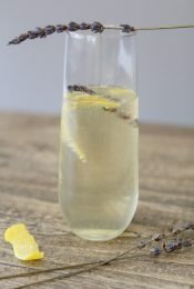 Lavender Champagne Craft Cocktail by the Whole Smiths. Refined sugar free, no artificial colors or ingredients.