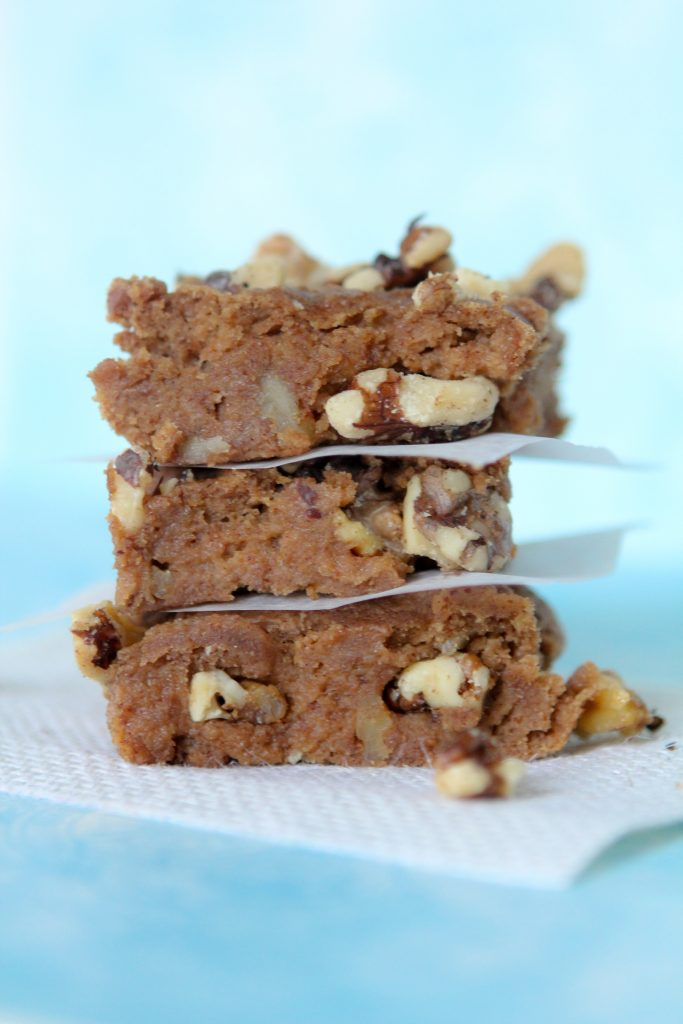 Banana Blondies from the Whole Smiths. A great way to use up old bananas. Grain and gluten-free, paleo friendly. A must try healthy treat!