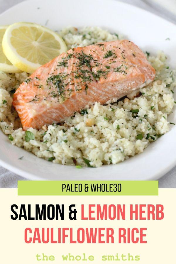 Paleo Roasted Salmon Pinterest Gaphic