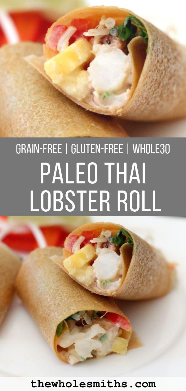 paleo thai lobster roll pin