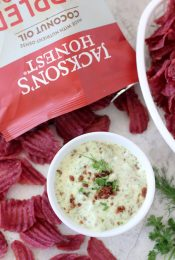 Loaded ranch dip from the Whole Smiths. Paleo-friendly, dairy and gluten free. Perfect for all of your dipping needs.