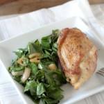 Apple Cider Vinegar Braised Chicken + Collards