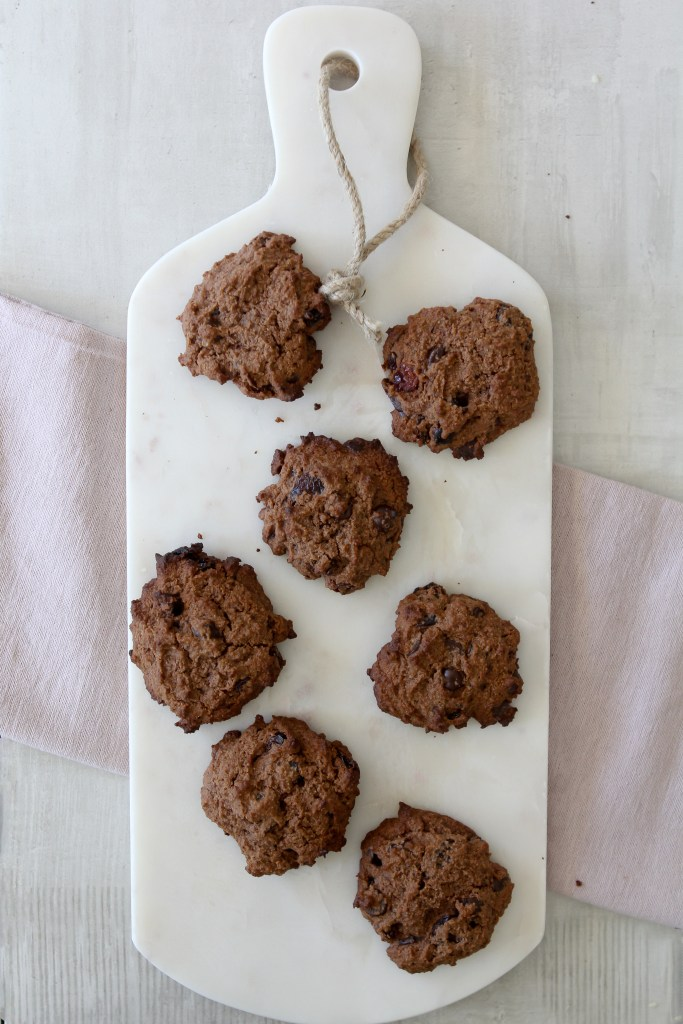 These Grain-Free Cherry Chocolate Cookies from the Whole Smiths will knock your socks off. A wholesome easy-to-make snack that's perfect to pack on-the-go.