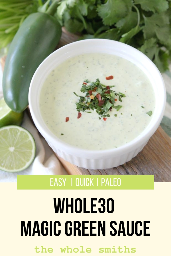 Whole30 Green Sauce Pinterest Graphic