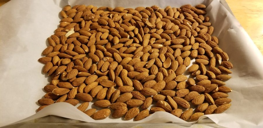Almonds ready for baking.