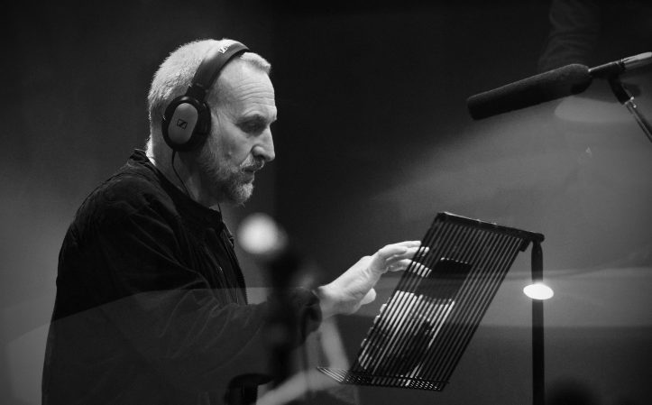 Christopher Eccleston recording The Ninth Doctor Adventures (c) Big Finish Productions