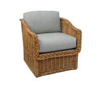 Classic Square Back Lounge Chair : Wicker : Material ...