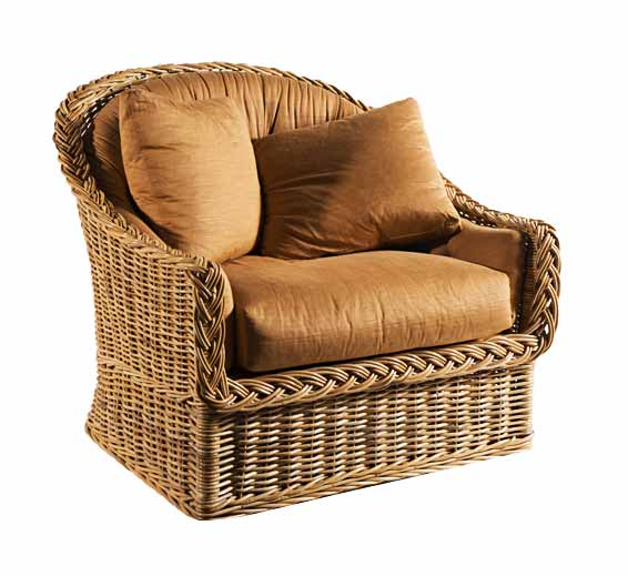 Large Scale Lounge Chair  Wicker  Material  Indoor