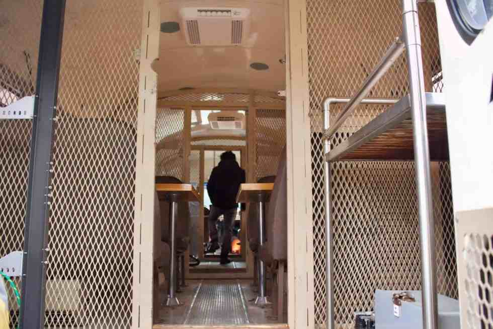 prison bus tiny home conversion