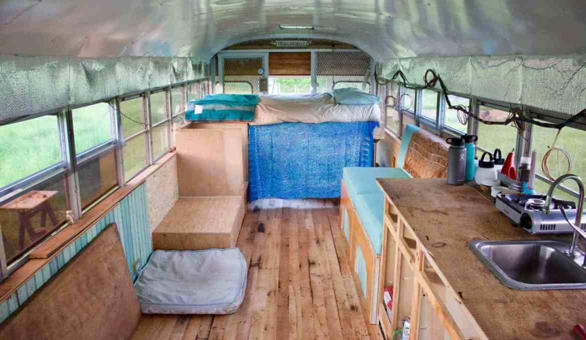 Bus Tiny Home Conversion Part Four – Then & Now…
