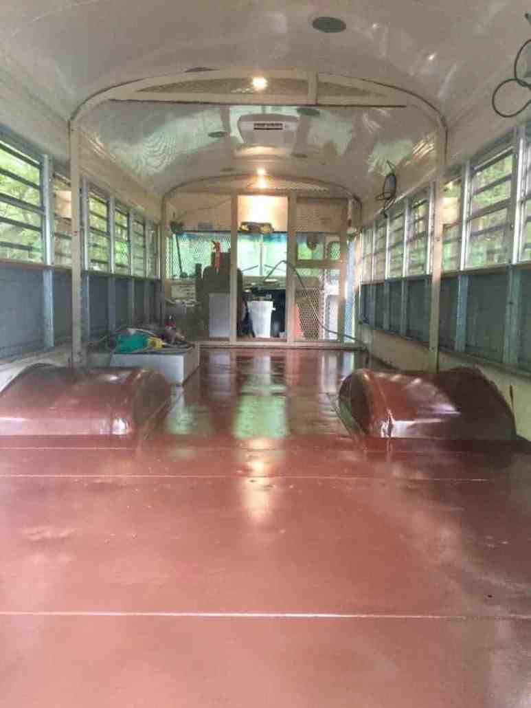 treating bus conversion metal floor rust