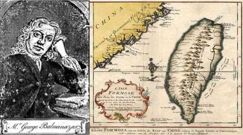 George Psalmanazar and map of Formosa