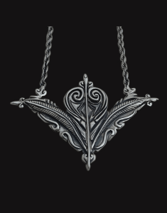 poison leaves necklace sterling silver