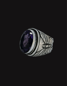 amethyst butterflies ring