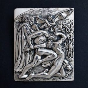 dante and virgil in hell bespoke pendant