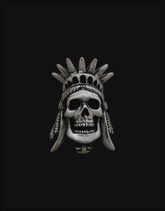 liberty skull pendant