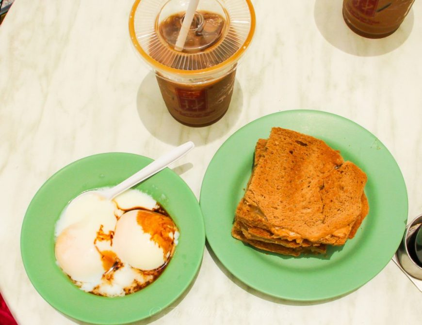 Ya Kun Kaya Toast is a breakfast staple of Singapore and very satisfying as a quick and cheap breakfast