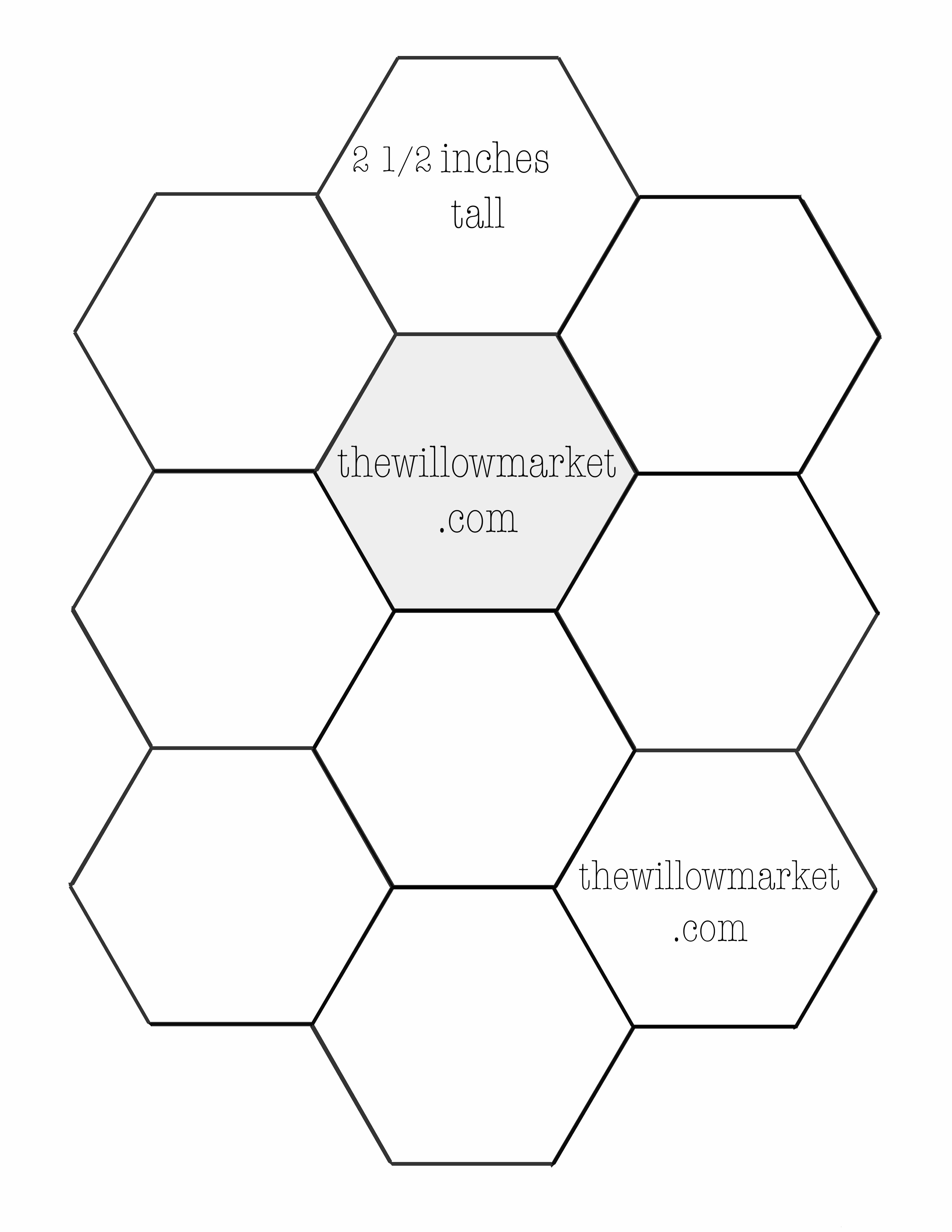 photo relating to Printable Hexagons titled 2 inch hexagon printable template