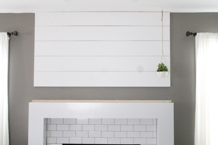 A New Fireplace With Shiplap And White Subway Tile The Willow Market