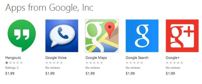 Fake google apps