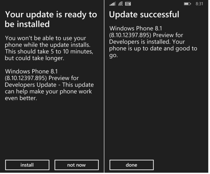 Windows phone 8.1 update