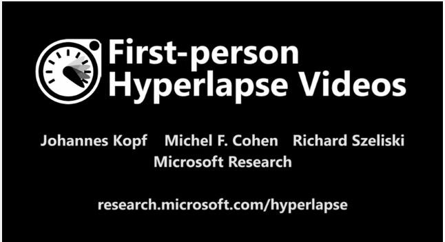 Microsot hyperlapse