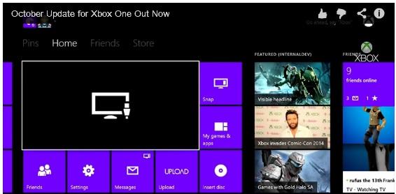 Xbox One Oct update