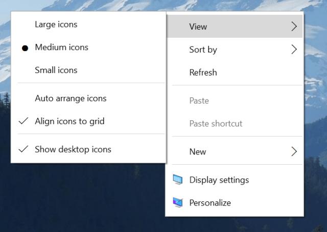 Build 10532 menu