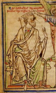 Alfred, King of the Anglo-Saxons. (Cambridge University Library, Ee.3.59: fol. 3v)