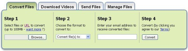 Zamzar Convert Files 600x163 Zamzar Converts Files into Different Formats without Downloading Software
