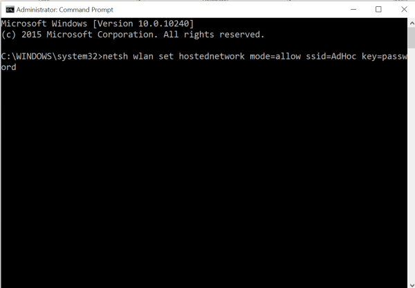 Command prompt value