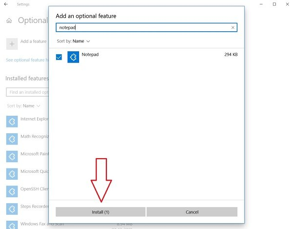 Uninstall or reinstall notebook in Windows 10
