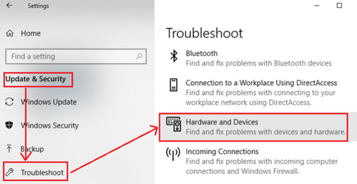 Windows Troubleshooters for Parity Storage Spaces