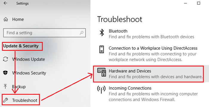 Windows troubleshooting for parity storage space issues after updating to Windows 10