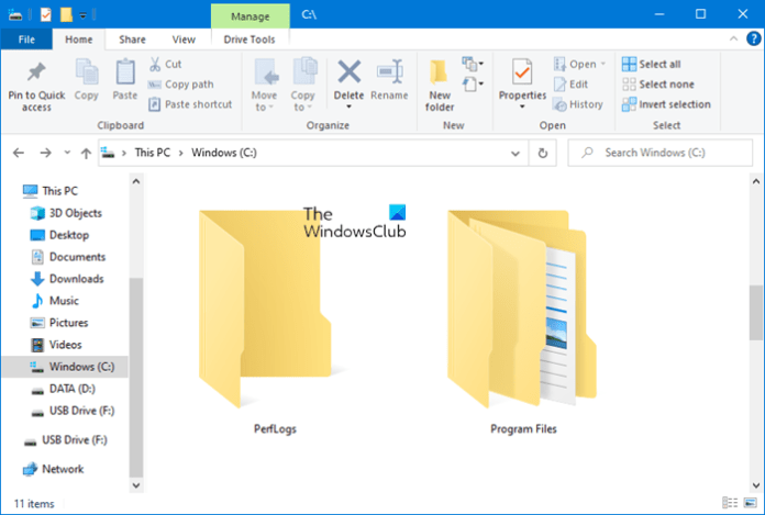 What is PerfLogs folder in Windows 10