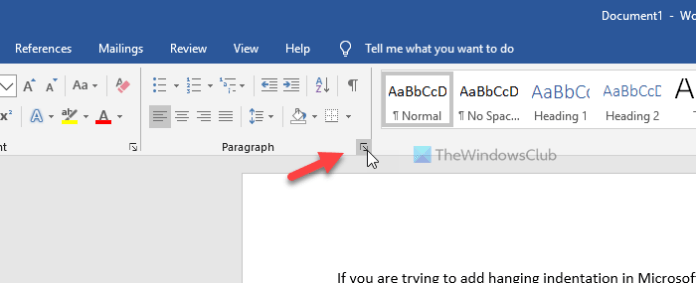 How to add Hanging indentation in Microsoft Word and Google Docs