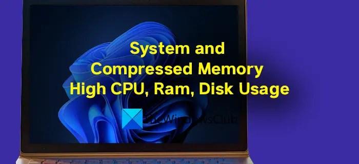 Hệ thống và bộ nhớ nén Sử dụng CPU, Ram, Đĩa cao