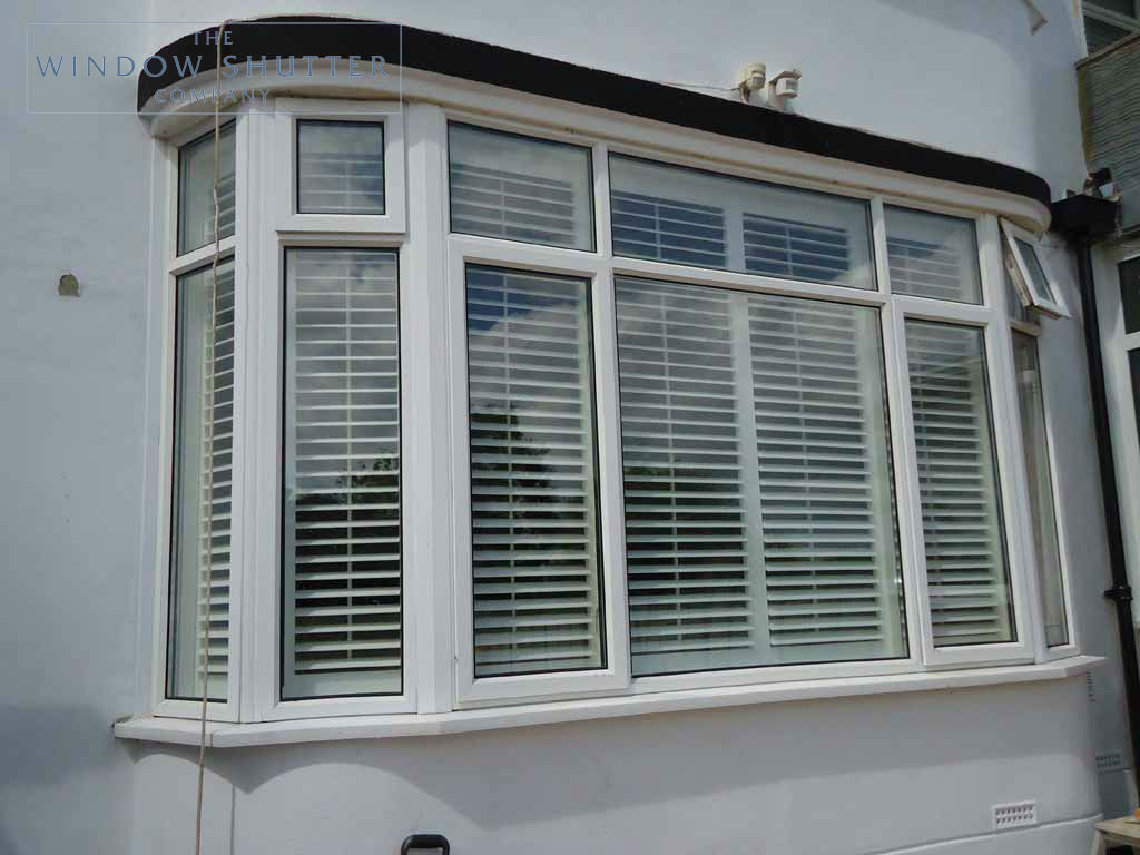 Bay Window Shutters Custom Made To Fit The Window