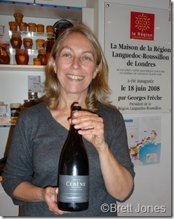 10009 Brigitte Chevalier, Dom Cebene, Languedoc Outsiders Tasting London 10 Nov 10