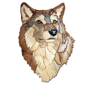 Animals Wolf Head Intarsia Project Pattern