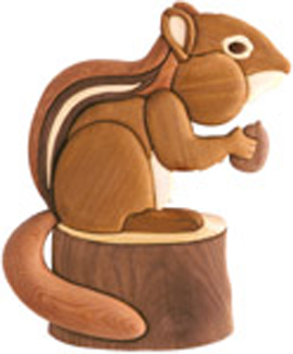 Animals Chunky Chipmunk Intarsia Scroll Saw Pattern
