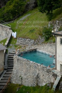 The thermal pool at Bagni Vecchi di Bormio, Italy